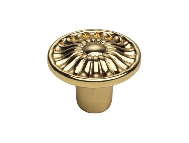 Pomolo per Mobile Vintage Linea Calì Daisy PB in Oro Zecchino