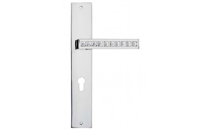 Reflex Maniglia per Porta su Placca Linea Calì Crystal