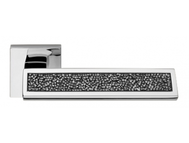 Riflesso Grey Rocks Maniglia per Porta su Rosetta Linea Calì Crystal