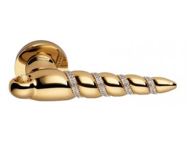 Shell Mesh Oro Zecchino Maniglia per Porta su Rosetta Linea Calì Crystal