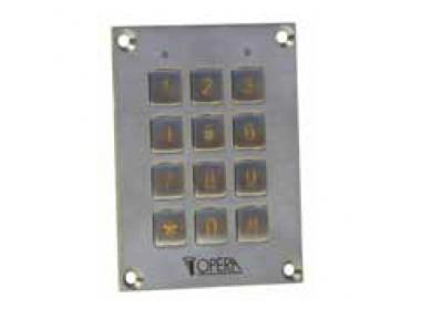 Tastiera a Codice Antivandalica per Controllo Accessi 55612SS Serie Access Opera