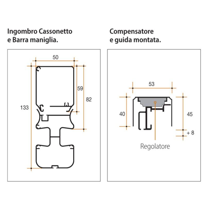 Zanzariera Bettio Scenica 2 Battenti a Scorrimento Laterale Senza Barriere
