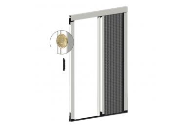 Zanzariera Plissettata Laterale Spessore 22 mm per Porta Balcone 1 Anta Plissé Zanzar Sistem