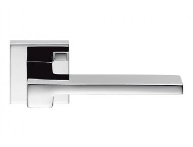 Zelda Cromo Lucido Maniglia per Porta su Rosetta Designer Jean Marie Massaud per Colombo Design
