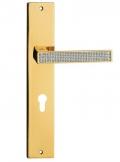 Zen Mesh Maniglia per Porta su Placca Linea Calì Crystal