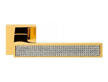 Zen Mesh Oro Zecchino Maniglia per Porta su Rosetta Linea Calì Crystal